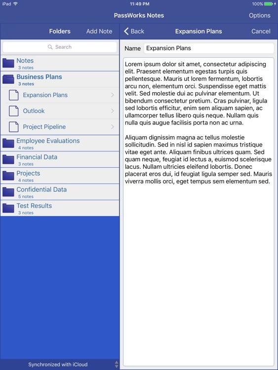 PassWorks Notes for iPad screenshot-4