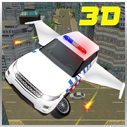 Flying Car Police Chase 3D :Futuristic Cop Cars and Airplane Pilot Flight Simulation Against Extreme Criminals Escape