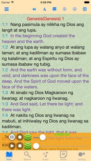 Ang Biblia Filipino Tagalog-English Audio Bible on the App Store