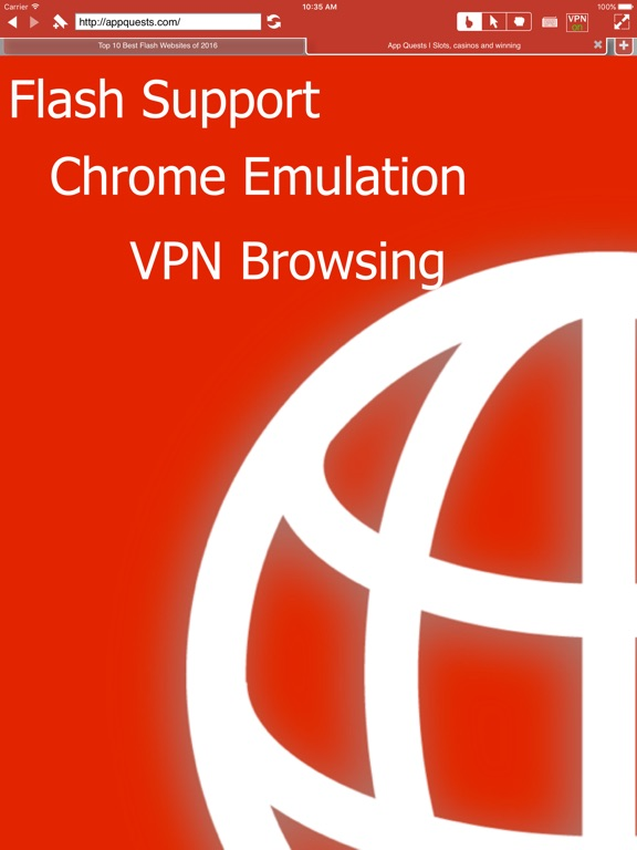VPN Private Browser + Adobe Flash Player for iPad by