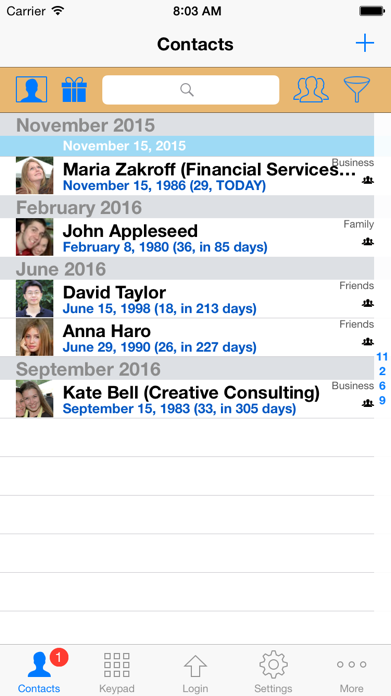 ContactsPro for iPad Screenshot