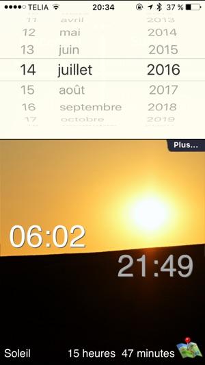 Le soleil lever et coucher dans l app store - Le soleil se couche a quel heure ...