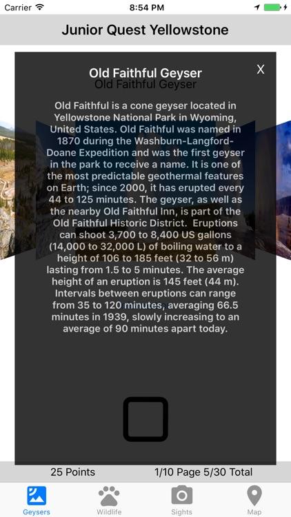 Junior Quest Yellowstone