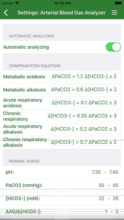 Arterial Blood Gas (Lite) screenshot-4