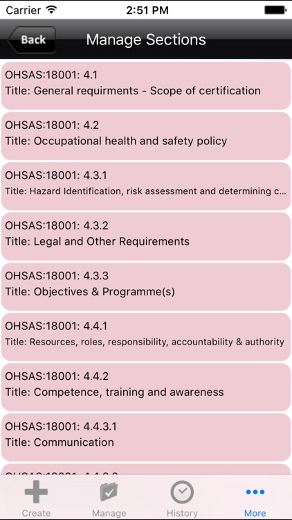 OHSAS 18001 Occupational Health and Safety Audit screenshot-3
