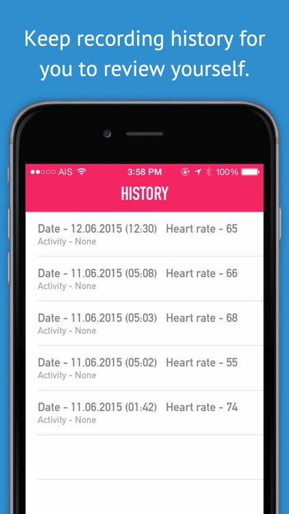 My Hearte Rate Monitor & Pulse Rate Pro - Activity Log for Cardiograph, Pulso, and Health Monitor screenshot-3
