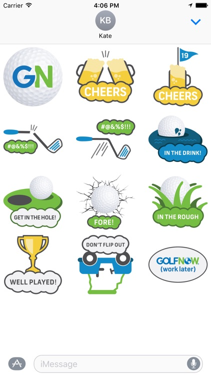 GolfNow Stickers for Golfers