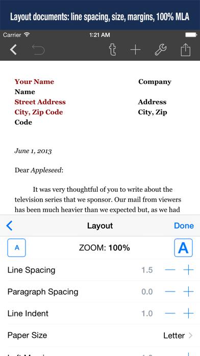 Скриншот №4 к Textilus Pro Word Processor