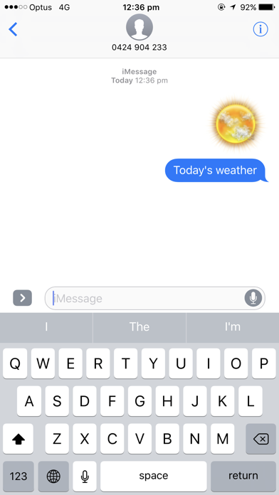Weather Stickers for Messageのおすすめ画像4