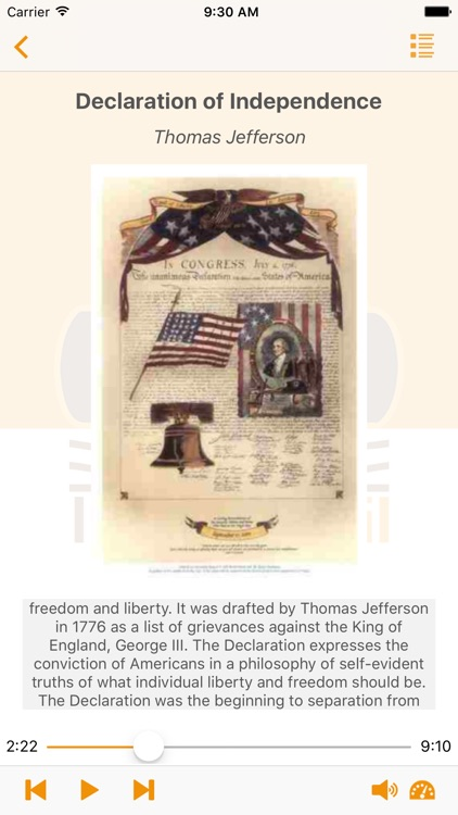 Historical Documents of The United States