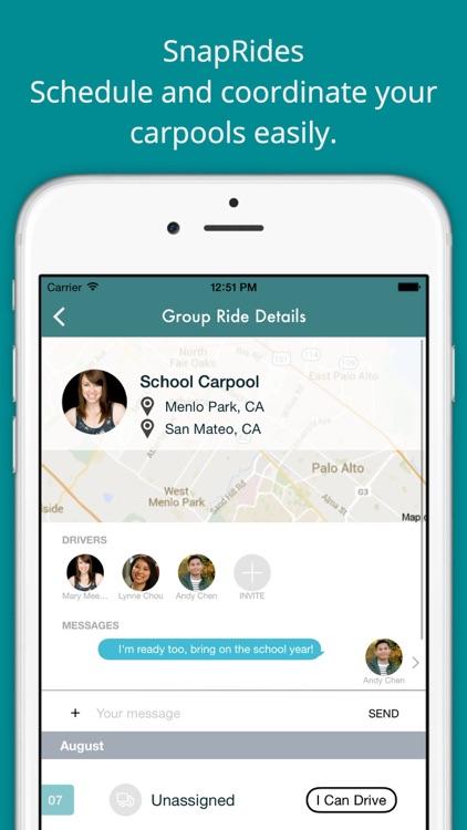 SnapRides - carpool & ride-sharing coordination