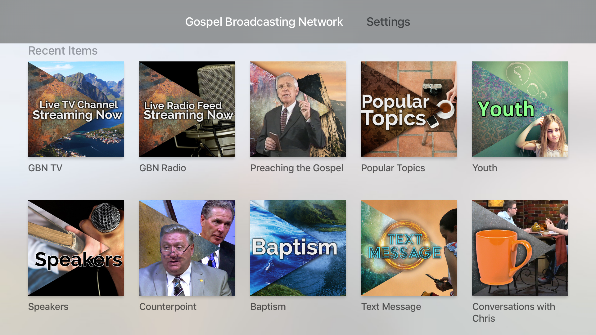 Gospel Broadcasting Network screenshot 7