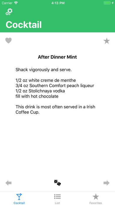 Cocktail review screenshots