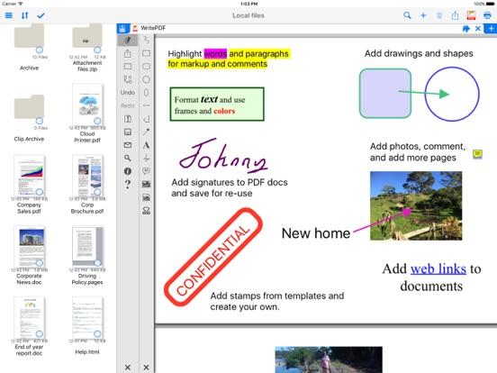 WritePDF Screenshots