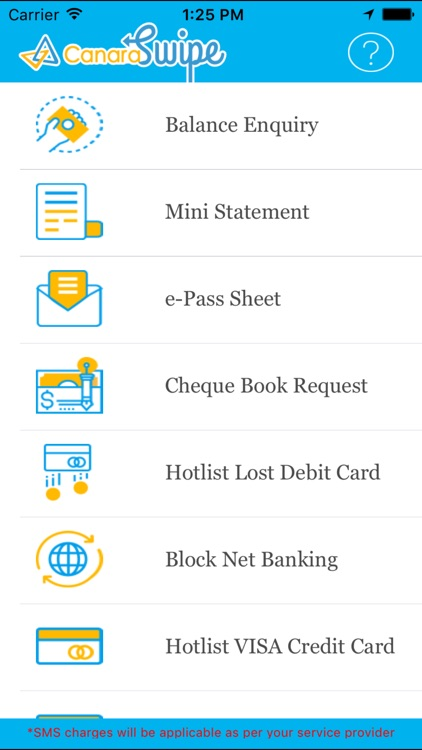 canara bank cheque book request form download