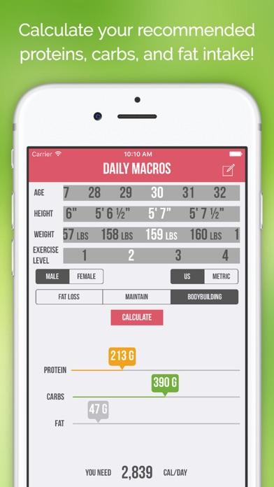 Daily Macros - Harris Benedict Formula Based Carb, Protein, Fat Macronutrient ratios and Calorie Calculatorのおすすめ画像1