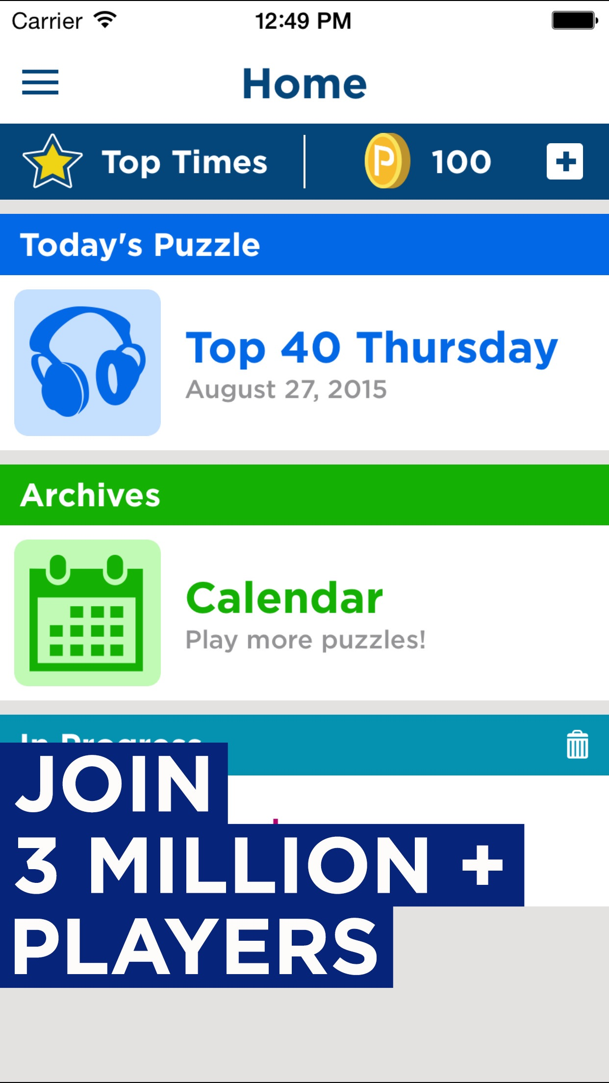 Daily Celebrity Crossword Screenshot