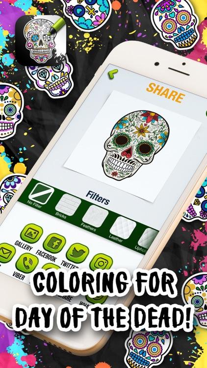 Sugar Skull Coloring Pages screenshot-3