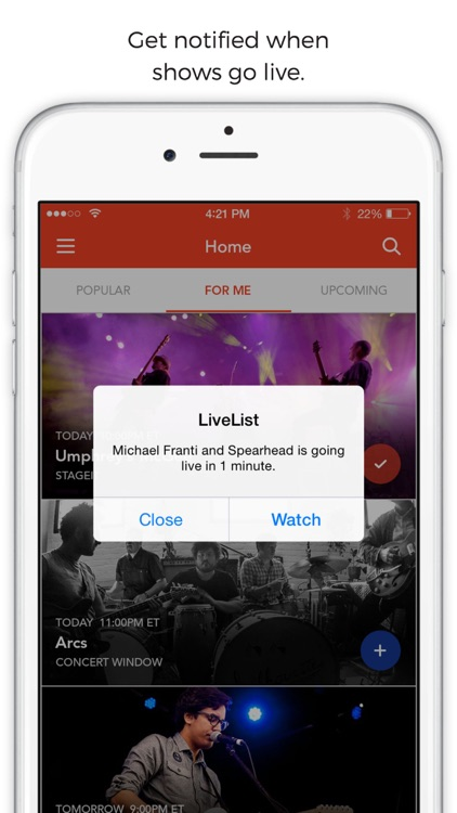 LiveList - Find and Watch Live Streaming Concerts