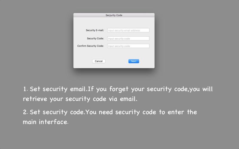 Password Record скриншот программы 2