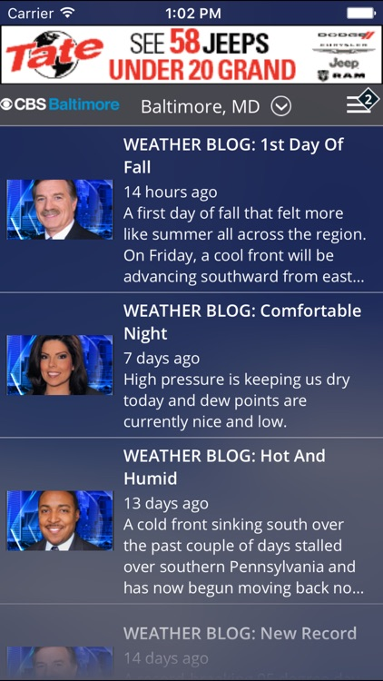 CBS Baltimore Weather screenshot-4