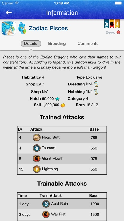 Breeding Guide for Dragon City screenshot-0