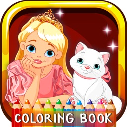 Princess Coloring Book For Girls: Free Games For Kids And Toddlers!