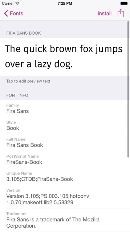 FondFont: Install System Fonts screenshot-1