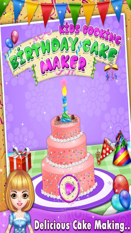 Enjoyable Kids Birthday Cake Maker Cooking Game By Kulsum Dodhiya Birthday Cards Printable Giouspongecafe Filternl