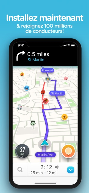 gps app for iphone navigation waze amp trafic live dans l app 14234