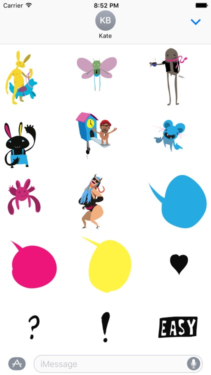 Characters and Bubbles