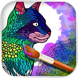 Cats & kittens - Mandalas coloring book for adults