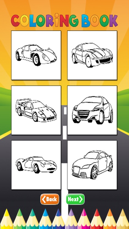 luxury Car Coloring Book - Activities for Kids screenshot-3