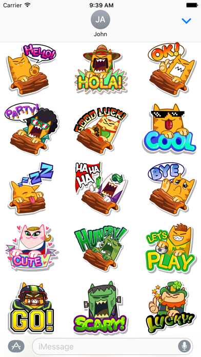 Splashy Cats Stickers