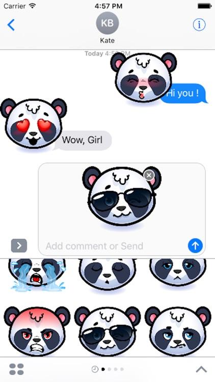 Emotion Panda Sticker - Emoji
