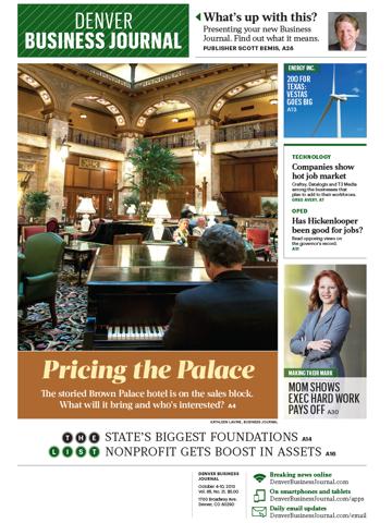 Screenshot of Denver Business Journal