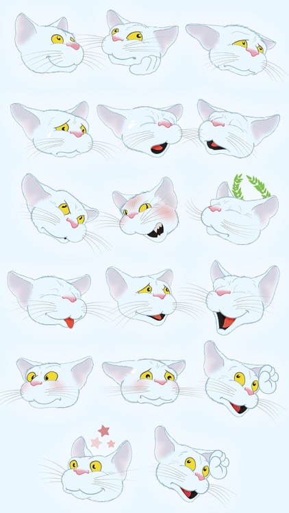 White Cat emoji screenshot-3