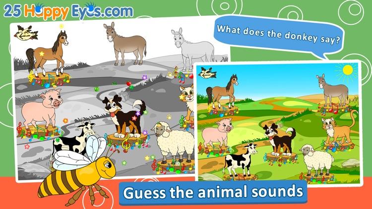 Joyful Animals for Kids - puzzle game for children screenshot-3