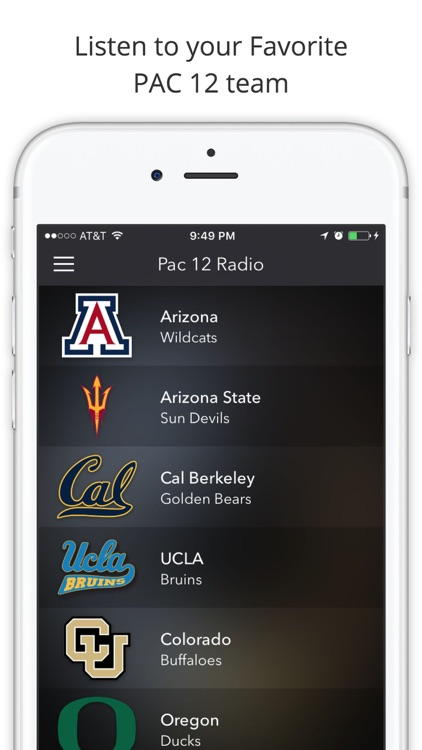 PAC 12 College Football Radio - Live Games screenshot-0