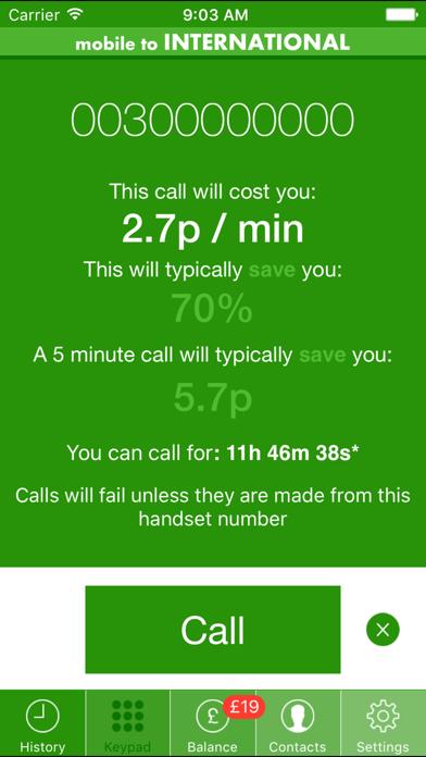 Cheap Mobile To International Calls screenshot three