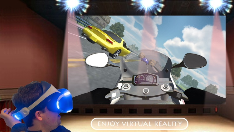 Real Bike Traffic Rider Virtual Reality Glasses screenshot-3