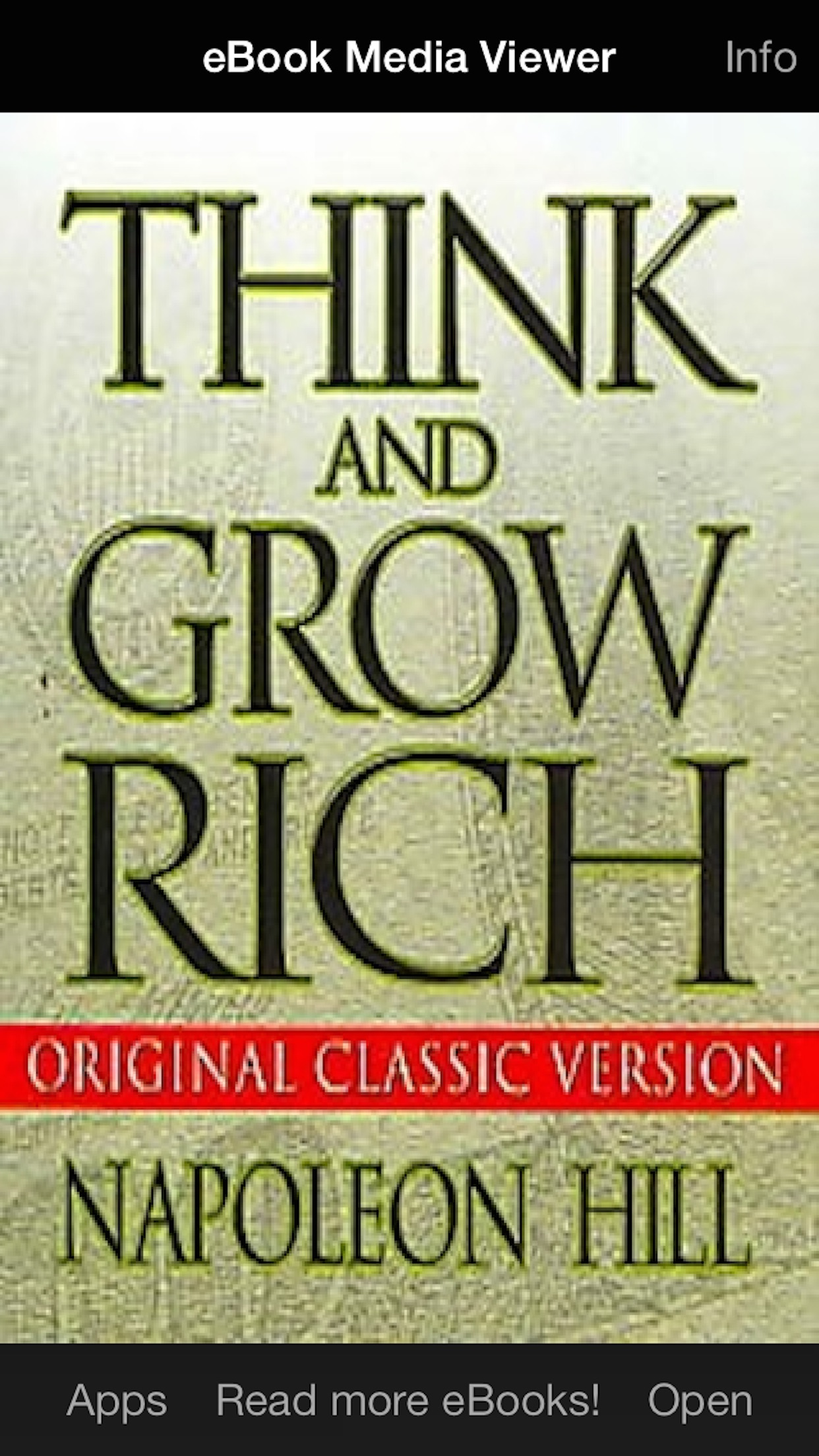 eBook: Think and Grow Rich Screenshot