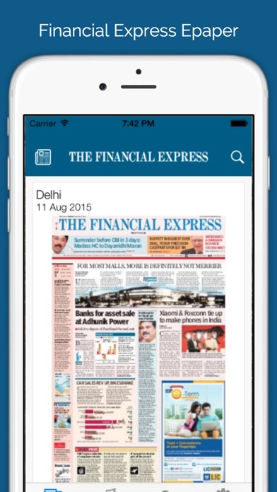 The Financial Express for iPhone
