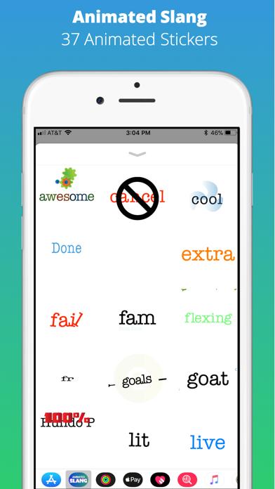 Animated Slang Stickers screenshot one