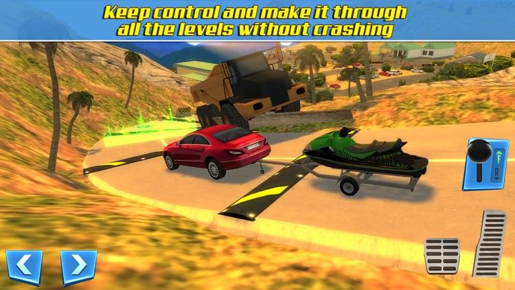 RV & Boat Towing Parking Simulator Real Road Car Racing Driving