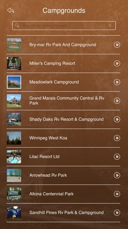 Manitoba Camping Locations