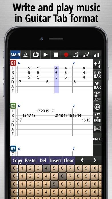 Jam Maestro: create guitar tab screenshot 1