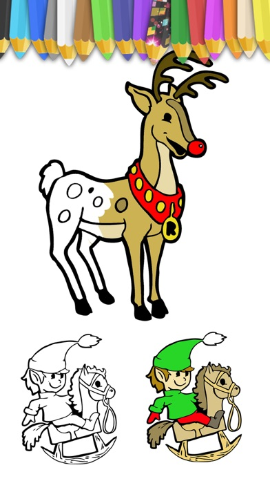download Paint Christmas magic - Christmas coloring pages apps 1