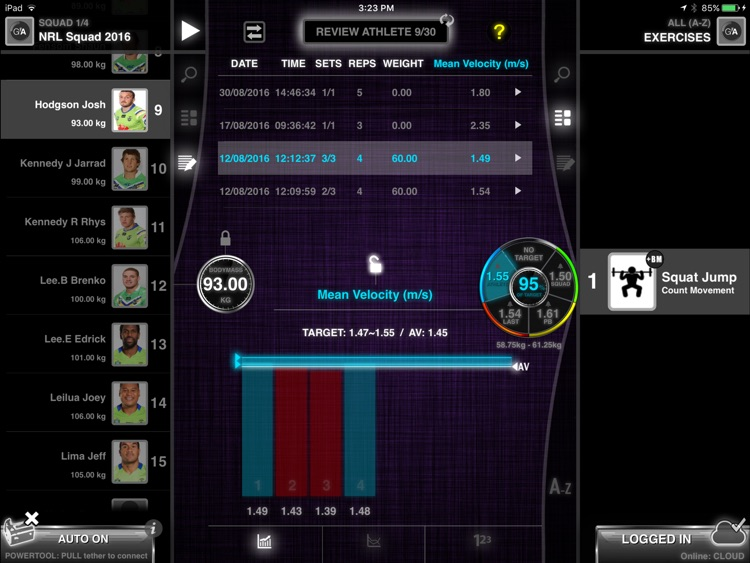 GymAware screenshot-2