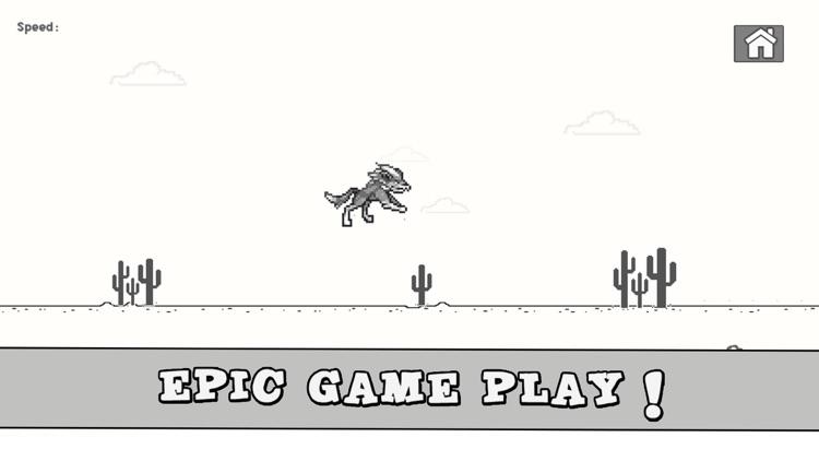 Dinosaur Widget Jumping Steve: 8bit Game screenshot-4